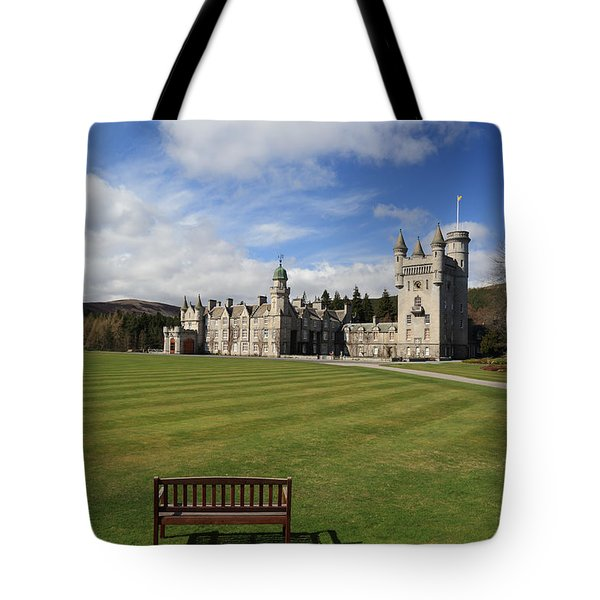 Tote Bag featuring the photograph Balmoral Castle by Maria Gaellman
