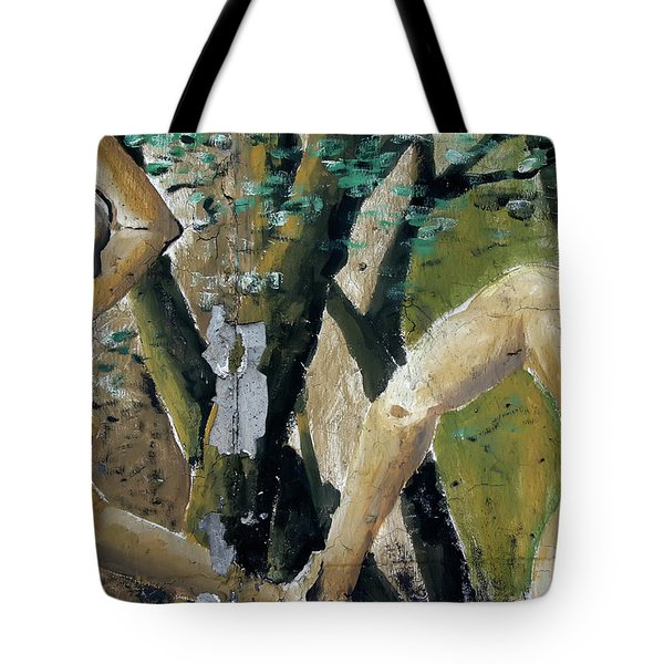 Tote Bag featuring the photograph Berlin Wall Mural by KG Thienemann