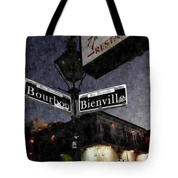 Bourbon Street Tote Bag by Janice Spivey