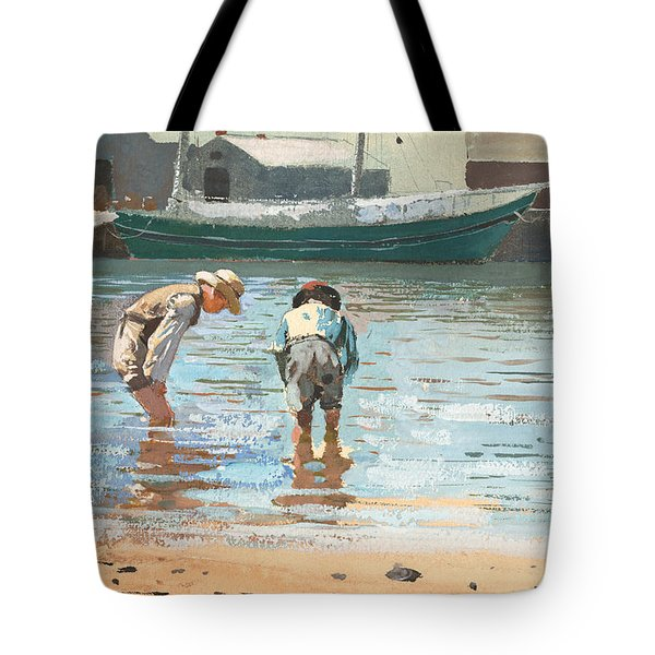 Boys Wading Tote Bag
