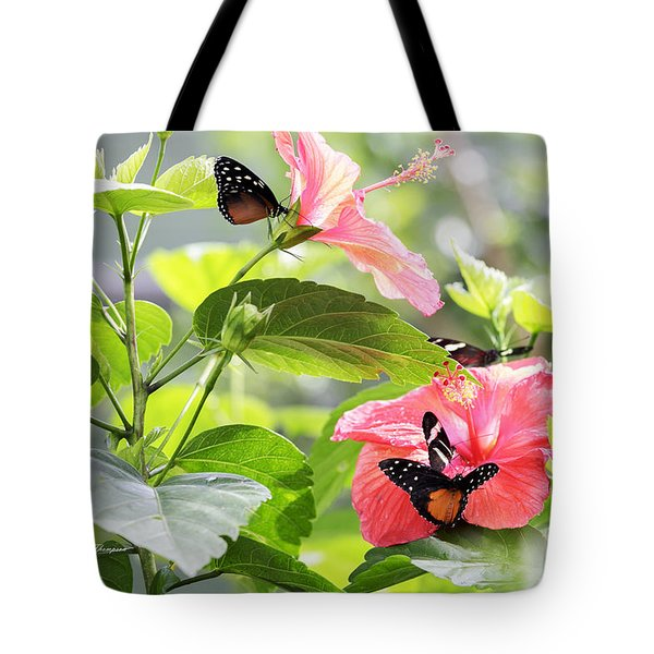 Tote Bag featuring the photograph Cream-spotted Clearwing Butterfly by Richard J Thompson