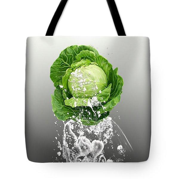 Cabbage Splash Tote Bag