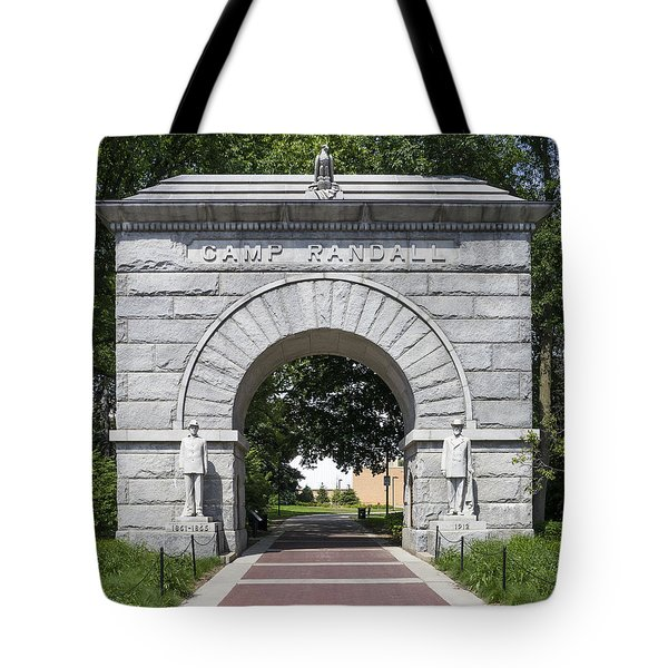 Camp Randall Memorial Arch - Madison Tote Bag by Steven Ralser