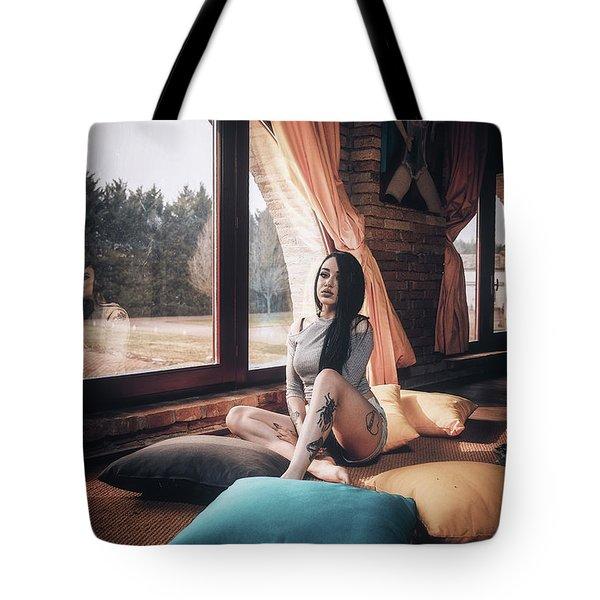 Tote Bag featuring the photograph C'est Un Beau Roman by Traven Milovich