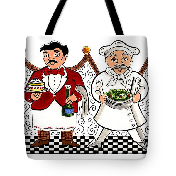 4 Chefs Tote Bag by John Keaton