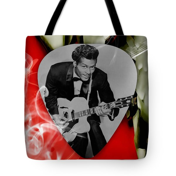 Chuck Berry Art Tote Bag by Marvin Blaine