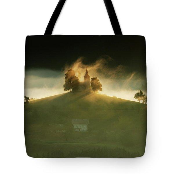 Church Of Saint Thomas At Sunrise Tote Bag