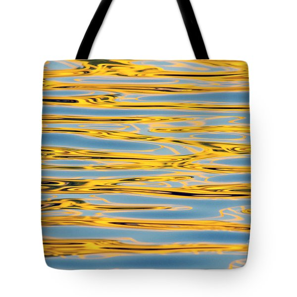Color Lights On Water Reflection Tote Bag