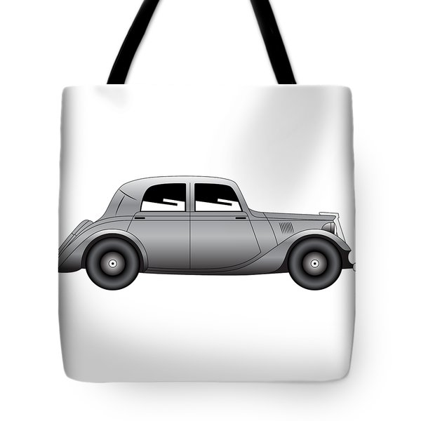 Tote Bag featuring the digital art Coupe - Vintage Model Of Car by Michal Boubin