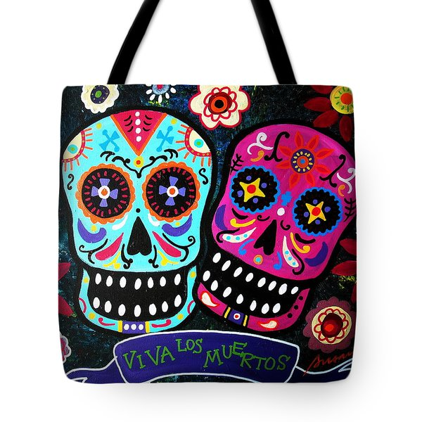 Couple Day Of The Dead Tote Bag