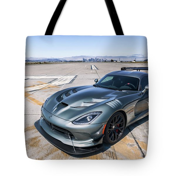Tote Bag featuring the photograph #dodge #acr #viper by ItzKirb Photography
