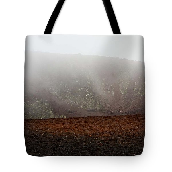 Etna, Red Mount Crater Tote Bag