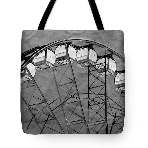 Tote Bag featuring the photograph Ferris Wheel Impressions by Werner Lehmann