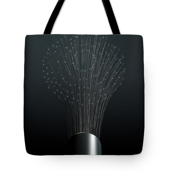 Fiber Optics Close Tote Bag
