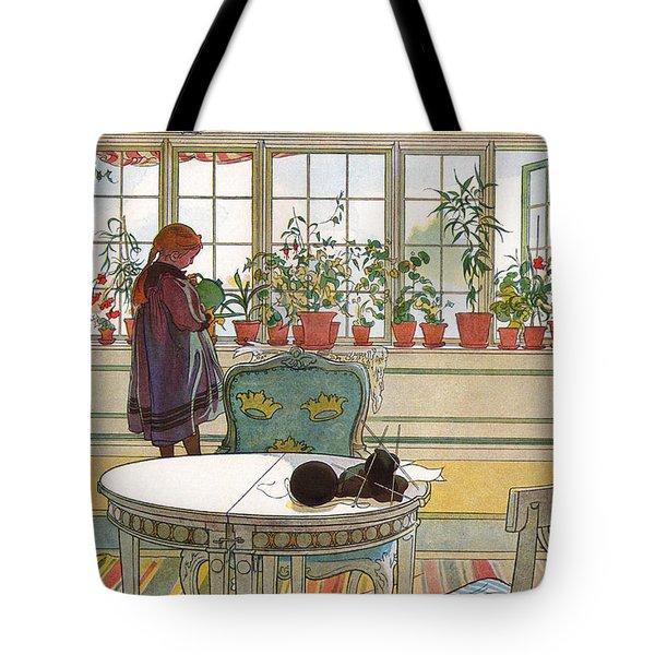 Flowers On The Windowsill Tote Bag