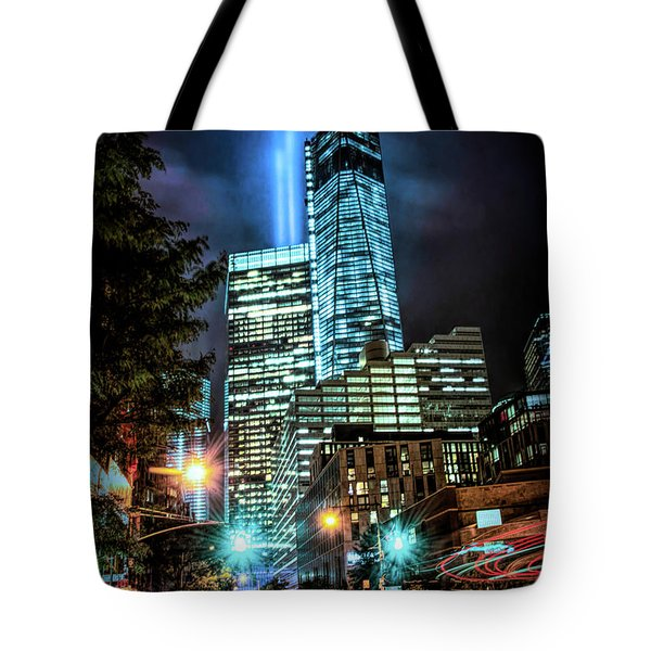 Tote Bag featuring the photograph Freedom Tower by Theodore Jones