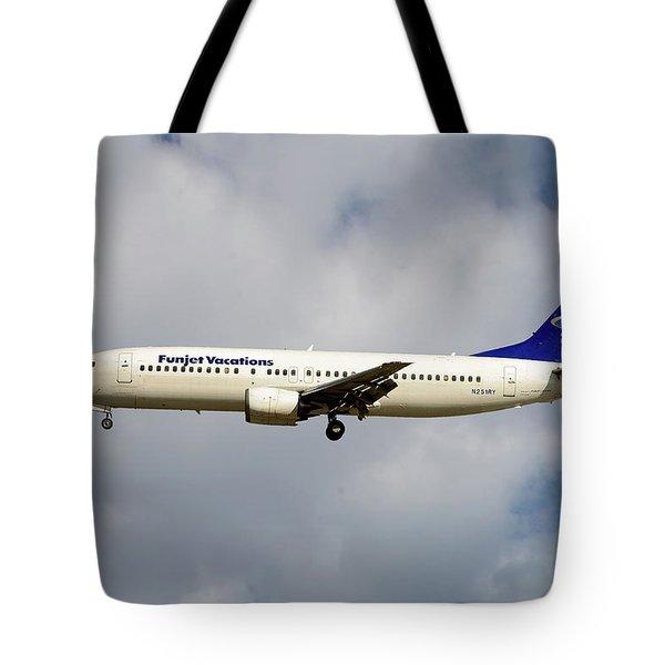 Funjet Vacations Boeing 737-400 Tote Bag