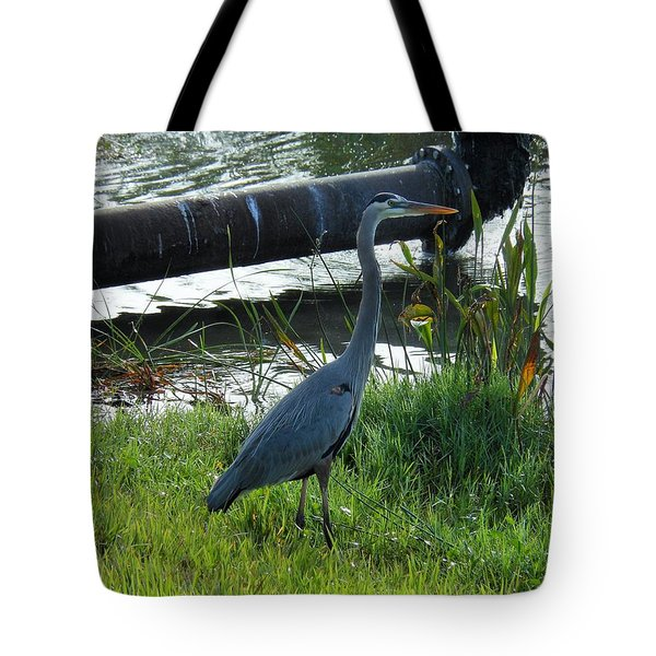 Tote Bag featuring the photograph Great Blue Heron by Kay Gilley