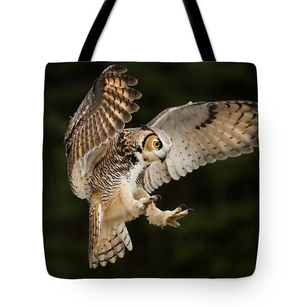 Great Horned Owl Tote Bag by CR Courson