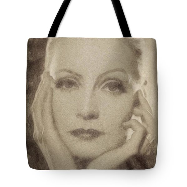 Greta Garbo Vintage Hollywood Actress Tote Bag