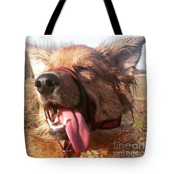#gsd #germanshepherd #germanshepherddog Tote Bag by Isabella F Abbie Shores FRSA