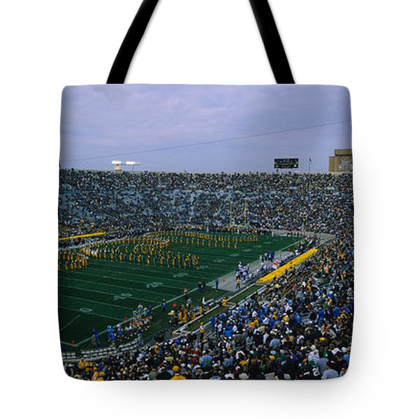 High Angle View Of A Football Stadium Tote Bag by Panoramic Images