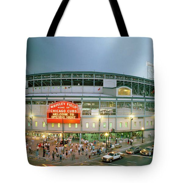 High Angle View Of Tourists Tote Bag