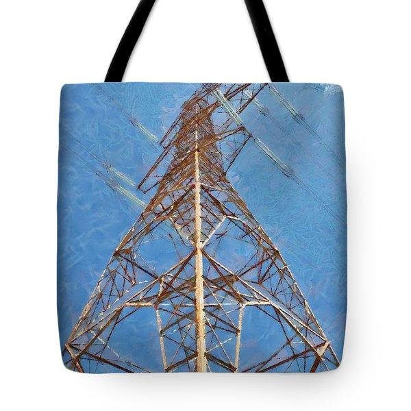 High Voltage Pylon Tote Bag