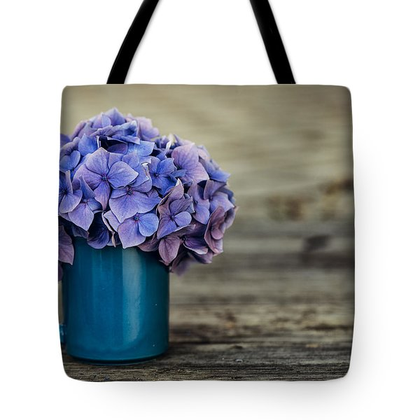 Hortensia Flowers Tote Bag