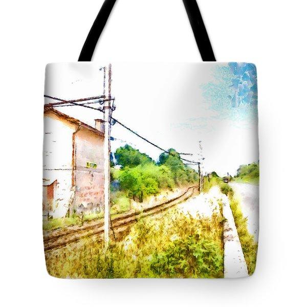House On The Railway Tote Bag