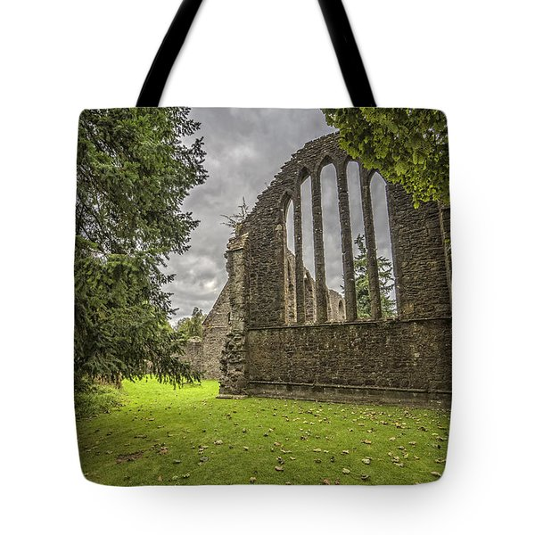 Inchmahome Priory Tote Bag by Jeremy Lavender Photography