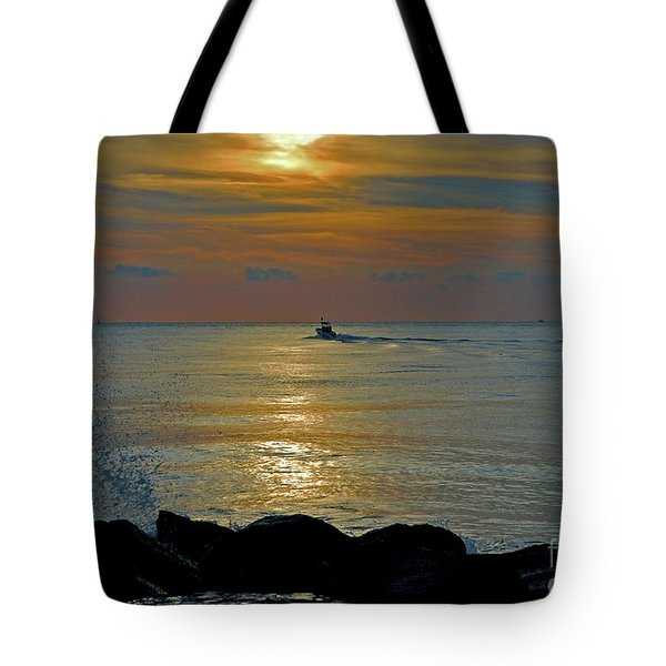 Tote Bag featuring the photograph 4- Into The Day by Joseph Keane