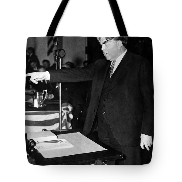 Tote Bag featuring the photograph John Llewellyn Lewis by Granger