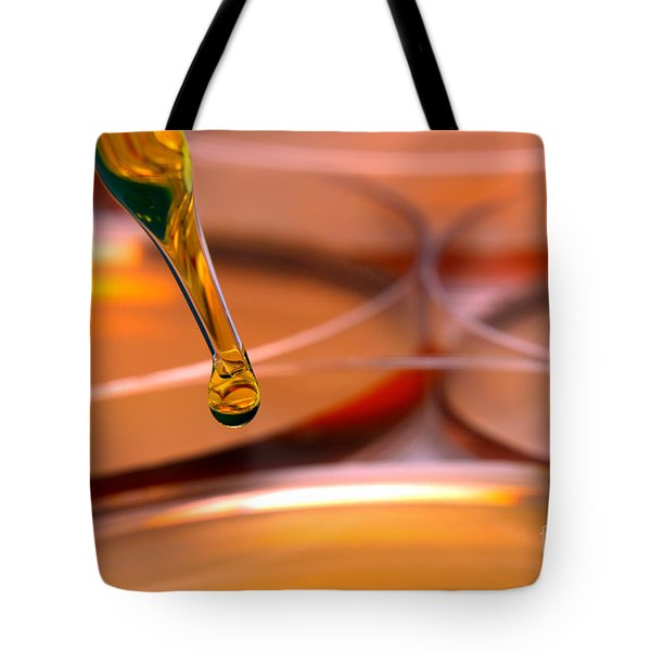Laboratory Petri Dishes In Science Research Lab Tote Bag