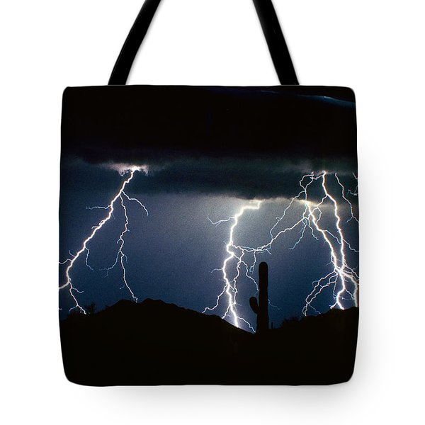 4 Lightning Bolts Fine Art Photography Print Tote Bag