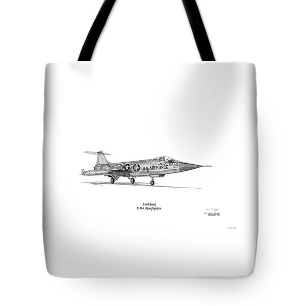 Lockheed F-104 Starfighter Tote Bag