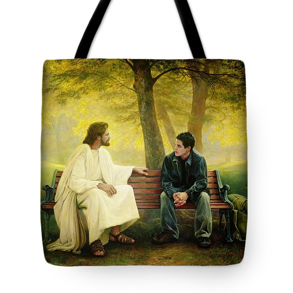Tote Bag featuring the painting Lost And Found by Greg Olsen
