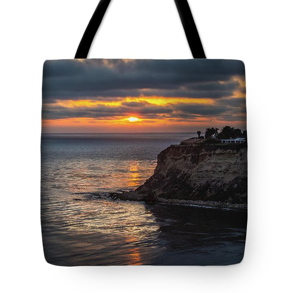 Tote Bag featuring the photograph Lunada Bay At Sunset by Andy Konieczny