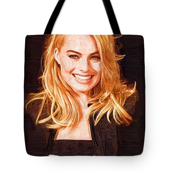 Margot Robbie Painting Tote Bag by Best Actors