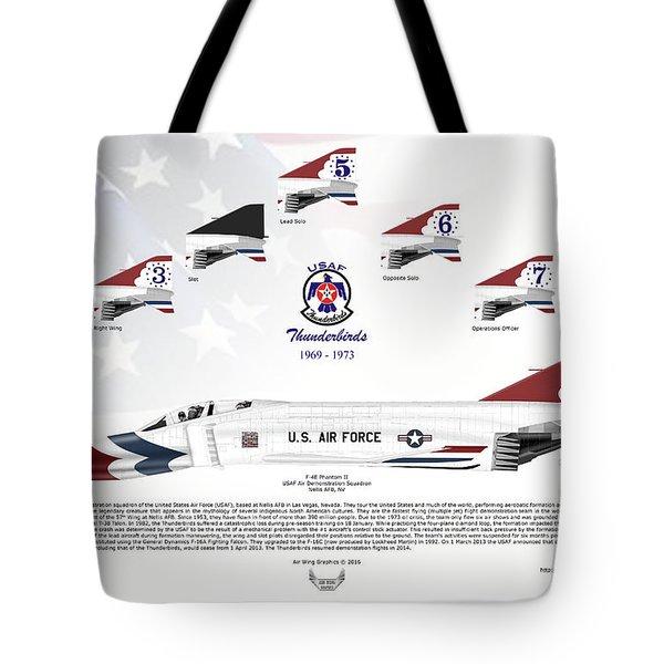 Mcdonnell Douglas F-4e Phantom II Thunderbirds Tote Bag