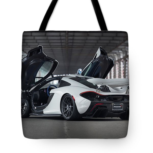 Tote Bag featuring the photograph #mclaren #p1 #print by ItzKirb Photography