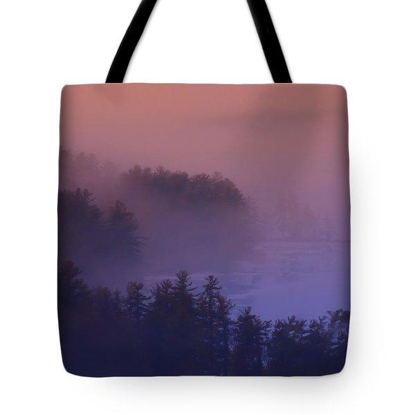 Melvin Bay Fog Tote Bag