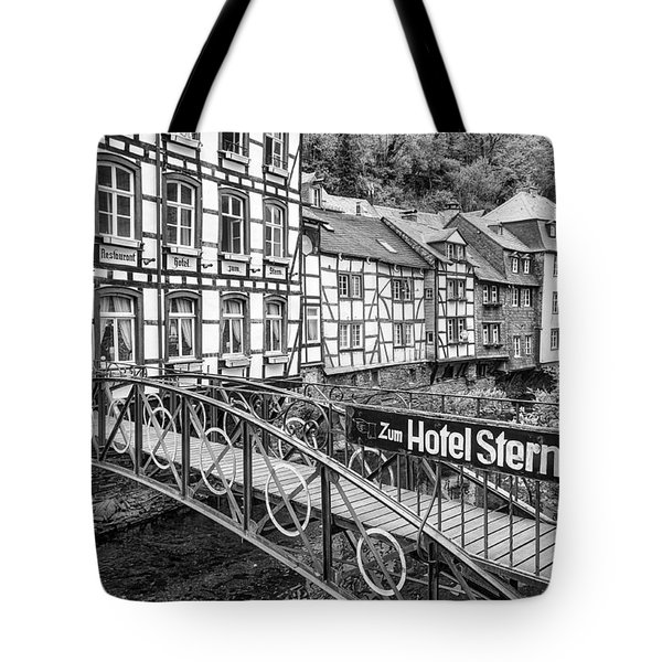 Monschau In Germany Tote Bag by Jeremy Lavender Photography