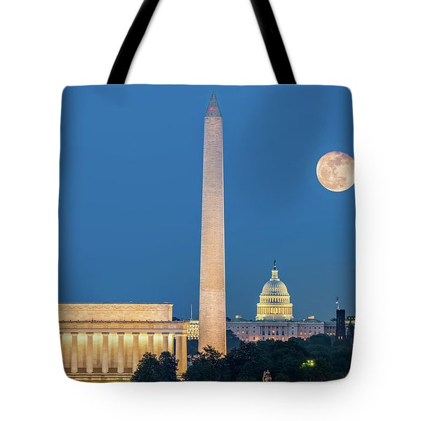 Tote Bag featuring the photograph 4 Monuments by Mihai Andritoiu