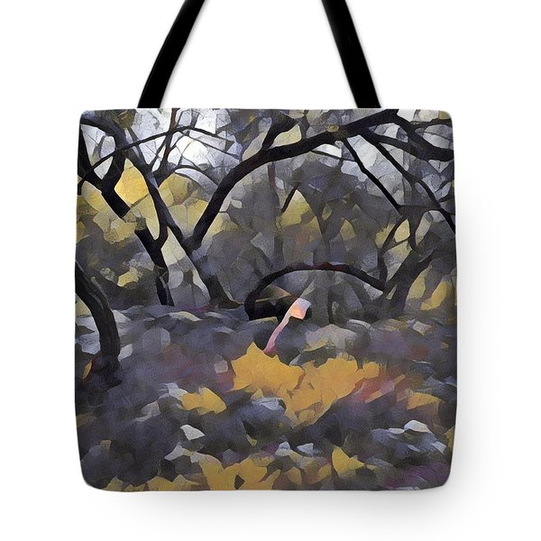 Morning Walk Trees Tote Bag