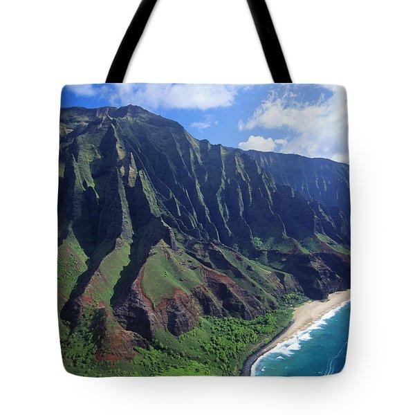 Na Pali Coast Aerial Tote Bag
