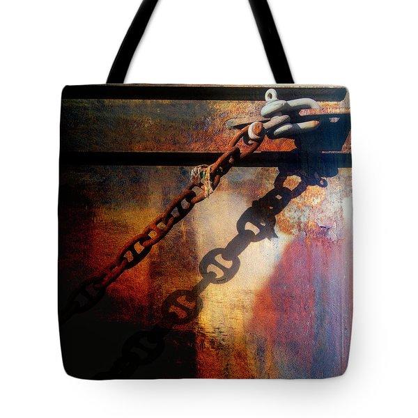 Nautical Industrial Art Square Tote Bag