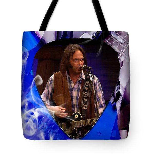 Neil Young Art Tote Bag