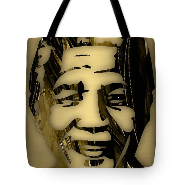 Nelson Mandela Collection Tote Bag by Marvin Blaine