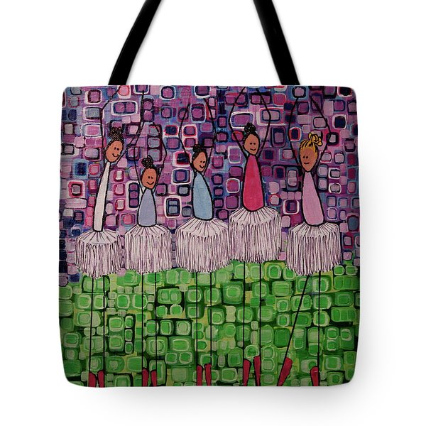 Tote Bag featuring the painting 4 Non-blondes by Donna Howard